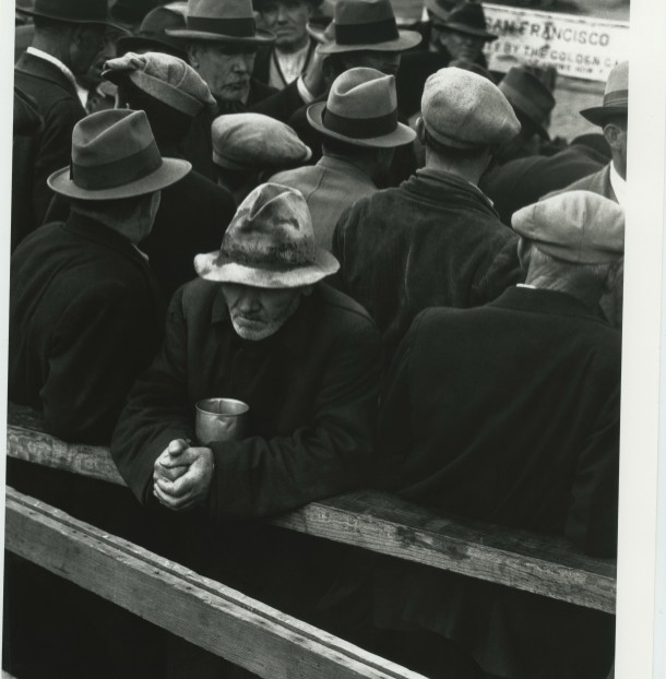 """White Angel Breadline,"" San Francisco, California, 1933. Photo: Dorothea Lange"