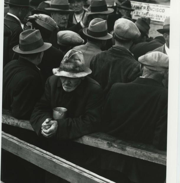 """White Angel Breadline,"" San Francisco, California, 1933. Photo: Dorothea Lange"