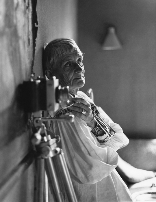 Dorothea Lange in her Bay Area home studio, 1964. Photo: ©1964, 2014 Rondal Partridge Archives