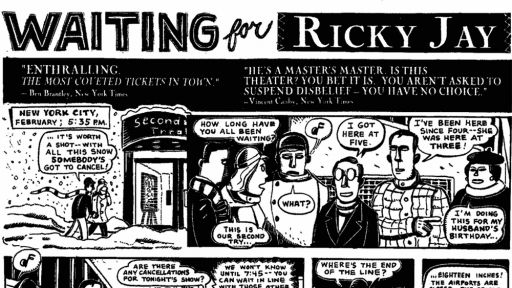 Comic: <em>Waiting for Ricky Jay</em>, by Peter Kuper