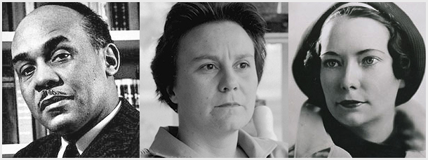 Left to right: American Masters Ralph Ellison, Harper Lee, Margaret Mitchell --- all known for their first novel.