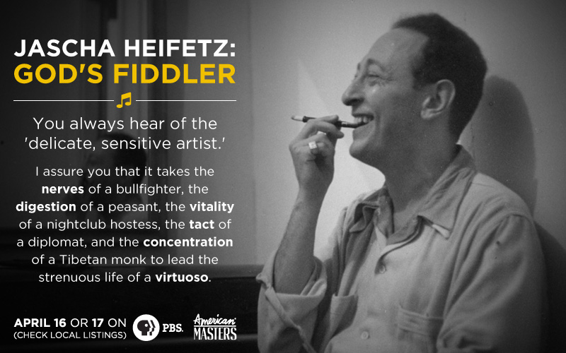 Heifetz Quote Sensitive Artist