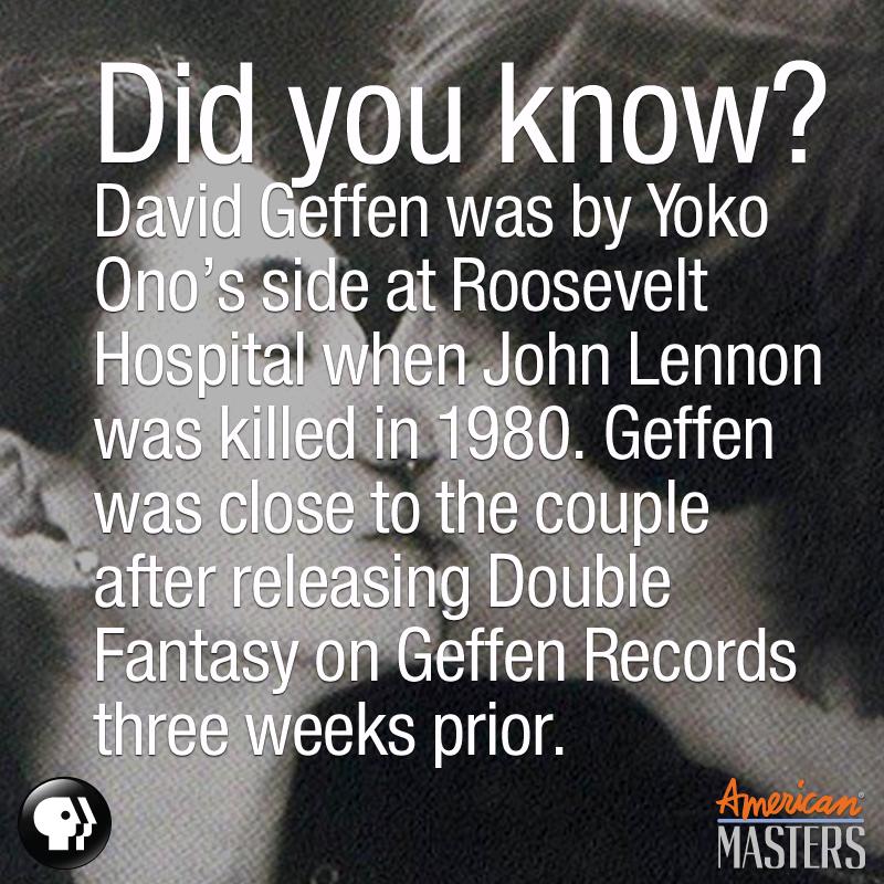 David Geffen, John Lennon, Yoko Ono