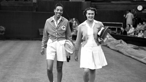 Althea Gibson (left)