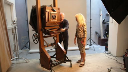 Timothy Greenfield-Sanders and Betsey Johnson on The Women's List Shoot