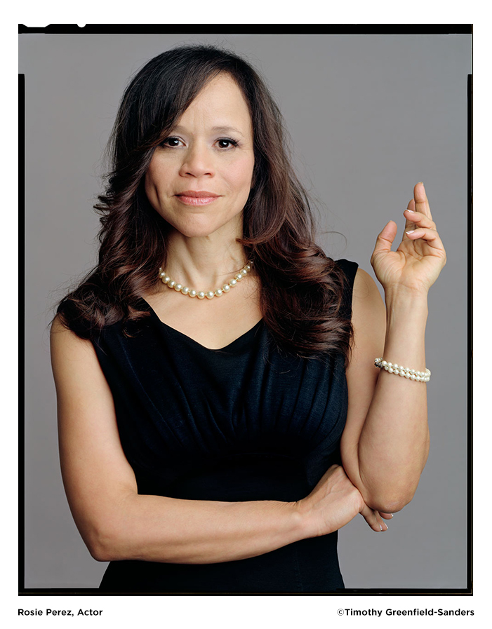 Rosie Perez photo by Timothy Greenfield-Sanders