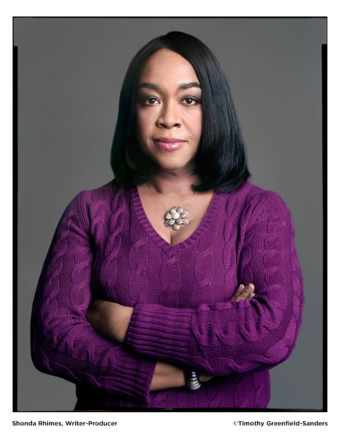 Shonda Rhimes photo by Timothy Greenfield-Sanders