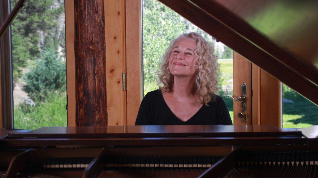 Carole King in her ranch studio
