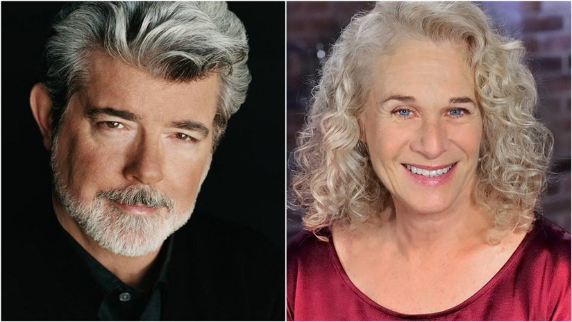 George Lucas (left) and Carole King (right)