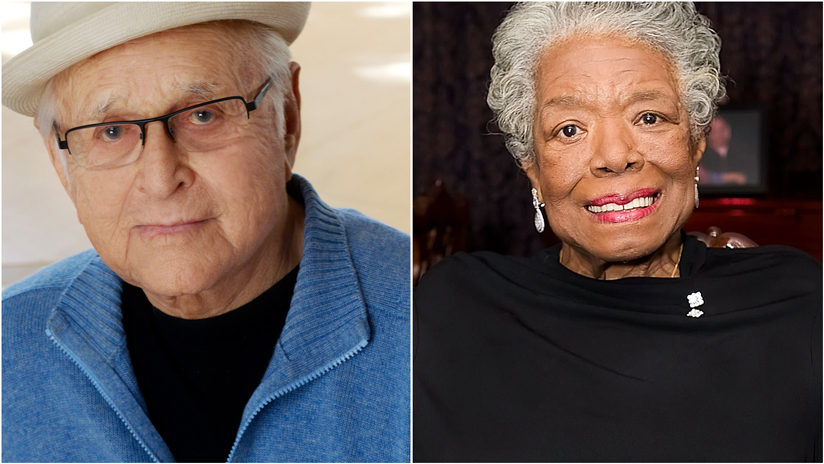 Norman Lear and Maya Angelou collage