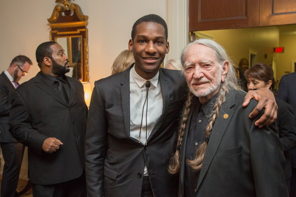Leon Bridges and Willie Nelson