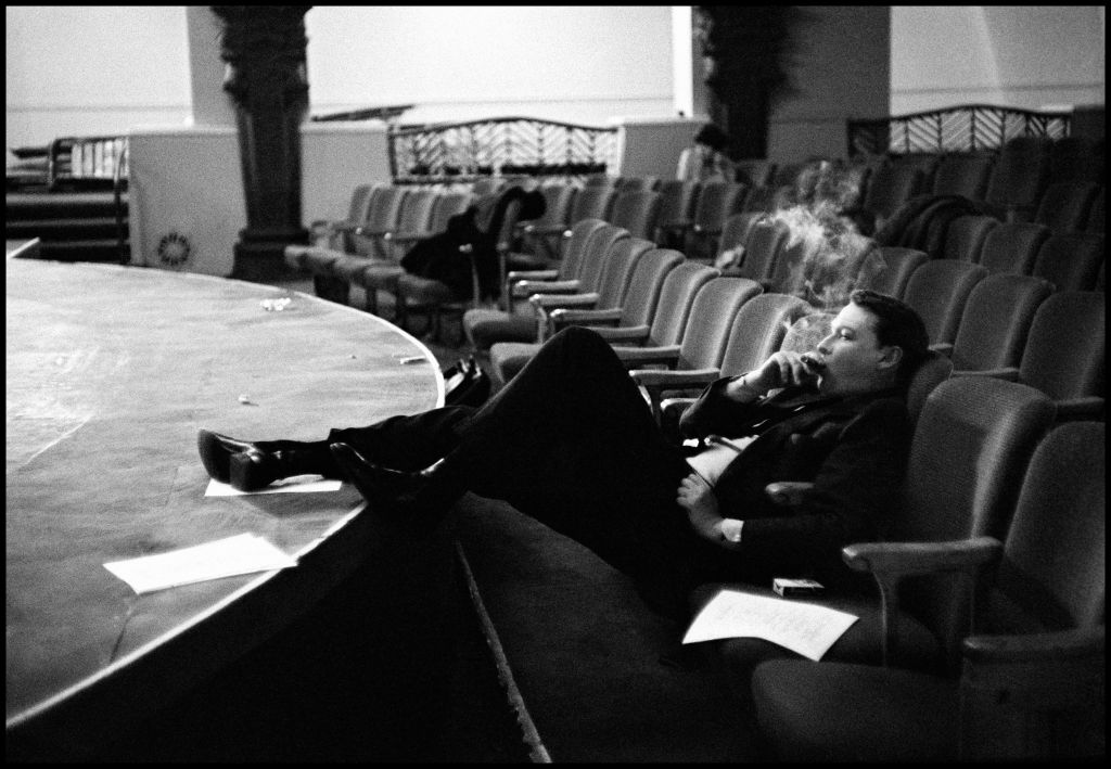 Mike Nichols in a theater, 1965.