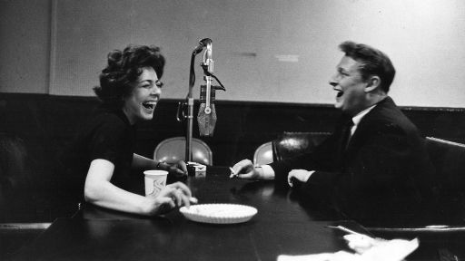 Elaine May and Mike Nichols laughing
