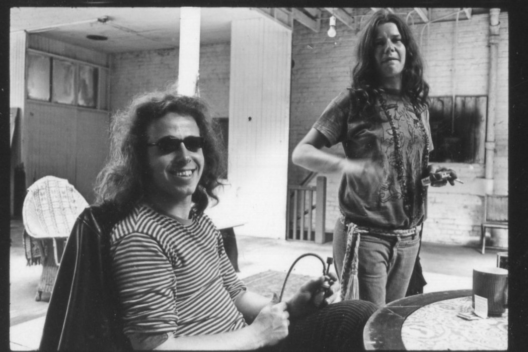 Big Brother and the Holding Company drummer Dave Getz (l) and Janis Joplin
