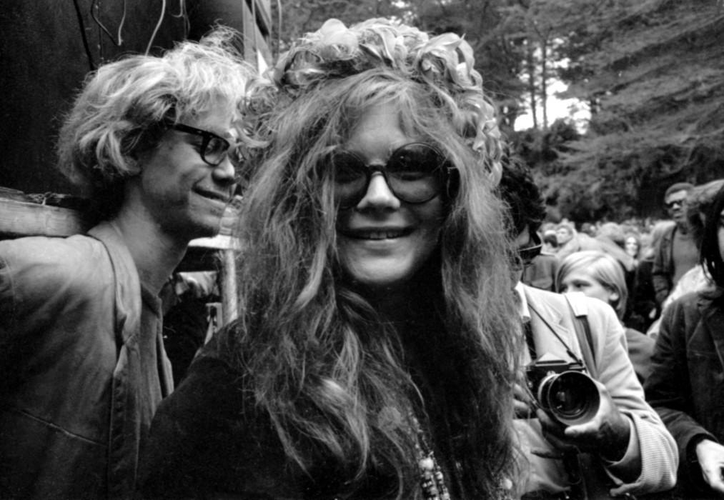 Janis Joplin and hair wreath