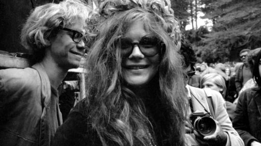 Janis Joplin and hair wreath