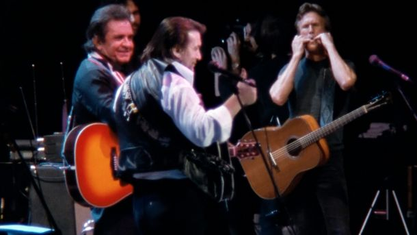 Screenshot from The Highwaymen: Friends Till The End. Courtesy of Sony Music Entertainment.