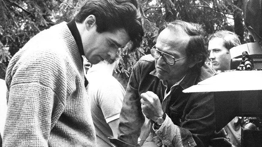 Prince of the City (1981) Directed by Sidney Lumet Shown on the set from left: Treat Williams, Sidney Lumet
