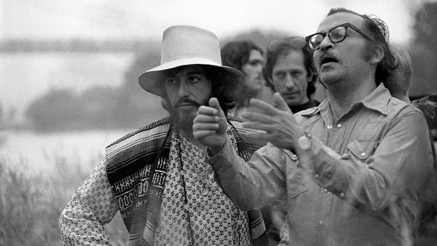 Serpico (1973) Directed by Sidney Lumet Shown from left in foreground: Al Pacino, director Sidney Lumet