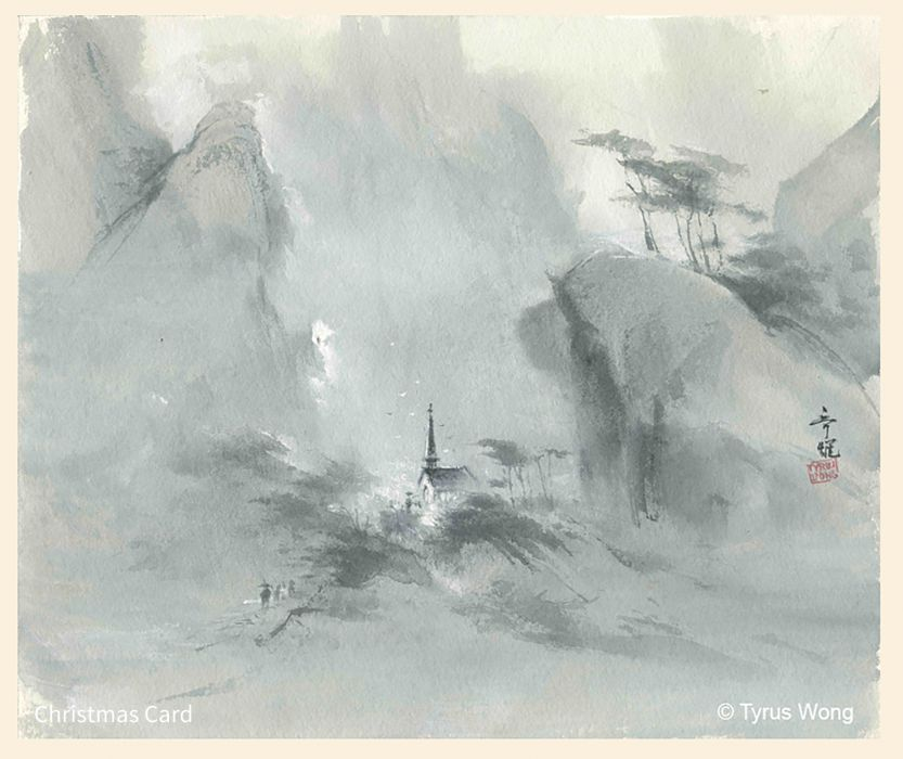 Artworks Christmas Cards.The Prolific Work Of Tyrus Wong Disney Warner Bros And