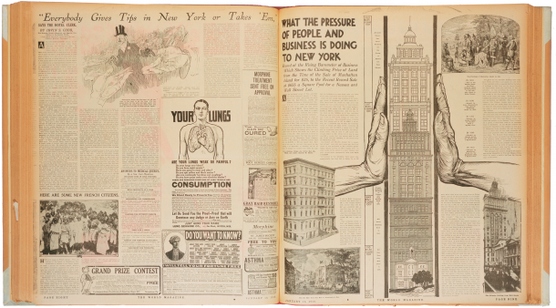 A page from the World's magazine section, Jan. 16, 1910, artist unknown.