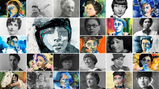 Collage of women featured in Unladylike series