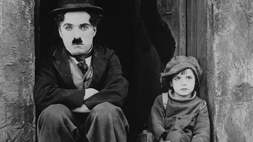 "Chaplin in ""The Kid"" (1921)"