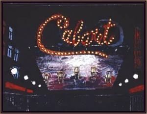 "Boris Aronson's set design for the Kit Kat Klub in ""Cabaret."""