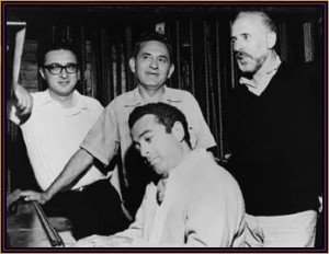 Sheldon Harnick, Joseph Stein, Jerry Bock, and Jerome Robbins.