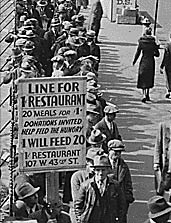 Breadline in New York during the Great Depression
