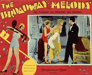 Poster for the 1929 film THE BROADWAY MELODY.
