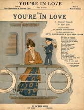 "Sheet music cover page for Rudolf Friml's ""You're in Love"""