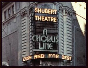 """New York's Shubert Theatre during the run of """"A Chorus Line."""""""