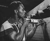 Black worker during World War II.
