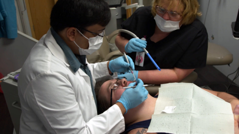 The only dental relief for many in this West Virginia county is extraction