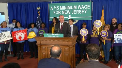 NJ Gov. wants $15 minimum wage bill before the end of the year