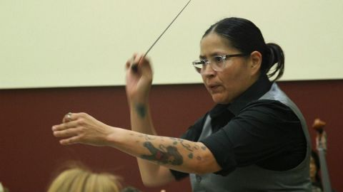 In a field dominated by men, Mexican-American maestra takes the stage