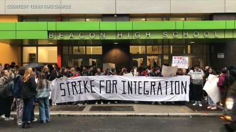 "NYC High School Students ""Strike for Integration"""
