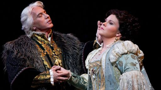 "Dmitri Hvorostovsky and Angela Meade in Verdi's ""Ernani."""