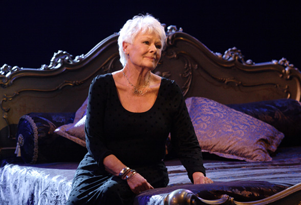 DAME JUDI DENCH as Desirée Armfeldt, singing 'Send in the Clowns' in A Little Night Music. Photo by Catherine Ashmore.