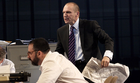 RALPH FIENNES as Lambert Le Roux in Pravda in 50 Years on Stage. Photo by Catherine Ashmore.