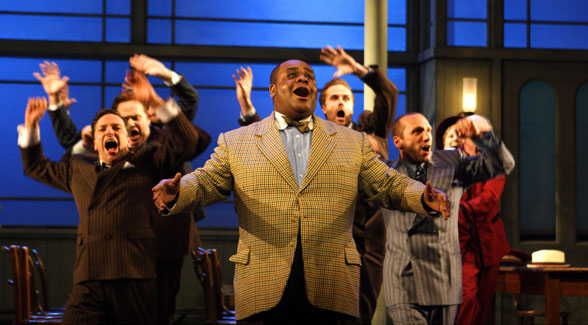 CLIVE ROWE as Nicely-Nicely in the musical Guys and Dolls in 50 Years on Stage. Photo by Catherine Ashmore.