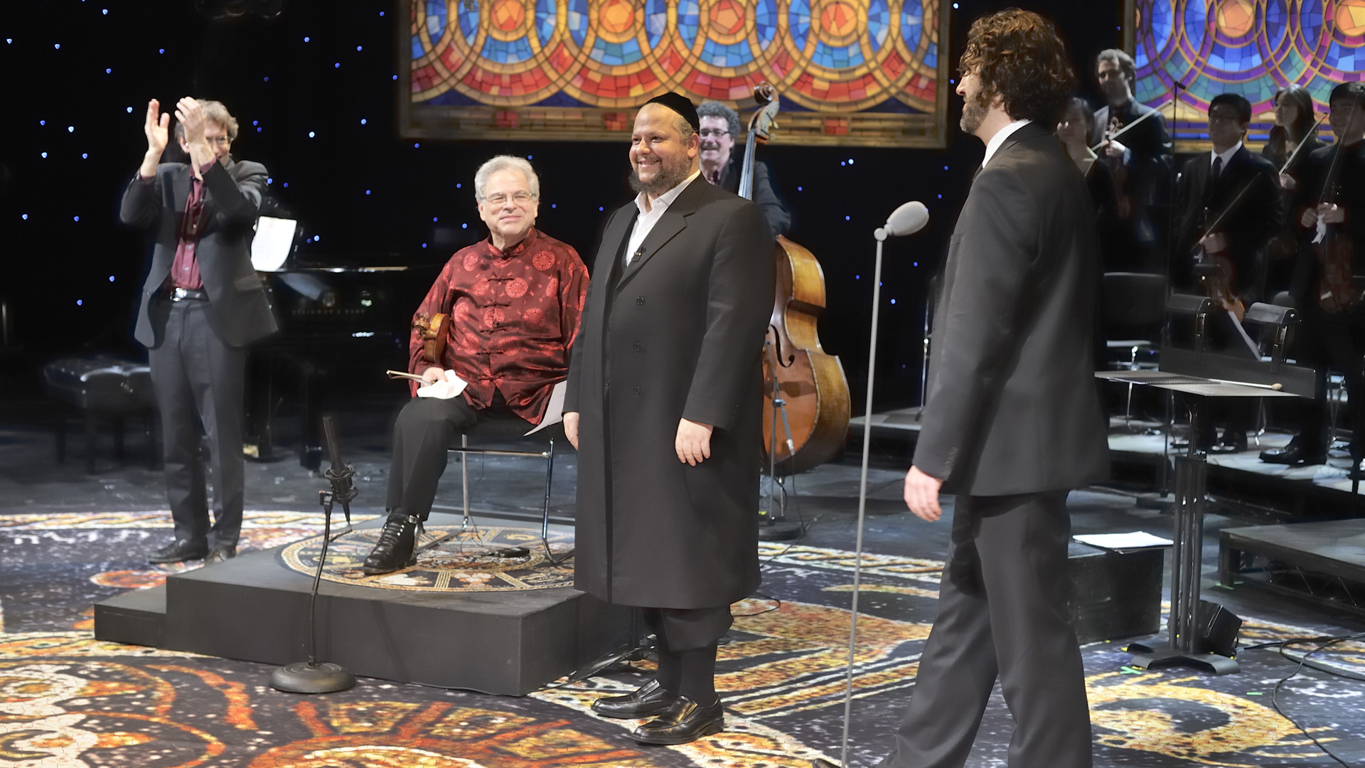 Great Performances: Rejoice! Itzhak Perlman and celebrated cantor Yitzchak Meir Helfgot join forces for a musical exploration of liturgical and traditional works.