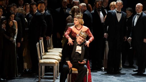 Anna Netrebko, Željko Lučić in Macbeth in GP at the Met