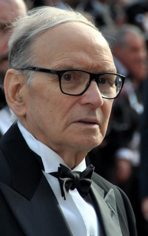 Ennio Morricone at Cannes 2012. Photo by Georges Biard.