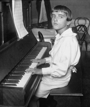 Composer Nino Rota at the age of 11 in 1923