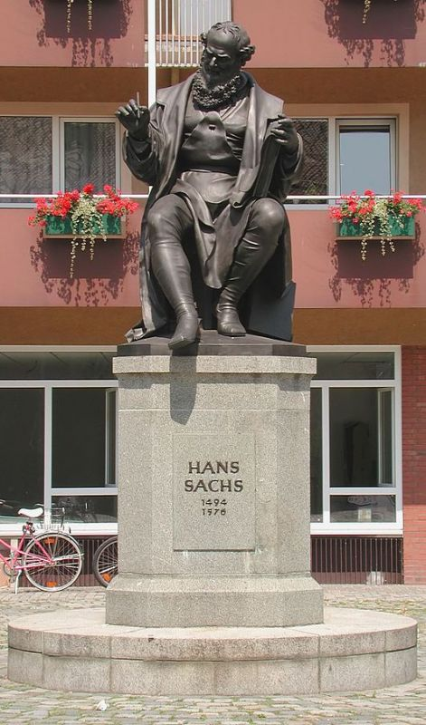 Hans Sachs Memorial in Nuremberg, Germany.