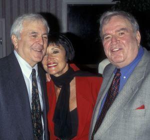 (L-R) John Kander, Chita Rivera, Fred Ebb. May 20, 1997. Photo: Ron Galella, Ltd./WireImage)