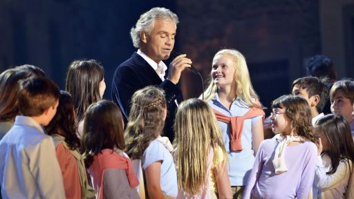 Andrea Bocelli and Adderly Choir