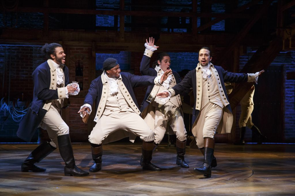 Hamilton, on Broadway. Photo: Joan Marcus